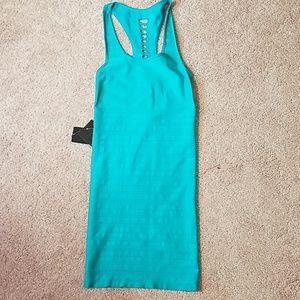 Bebe teal bodycon dress size small